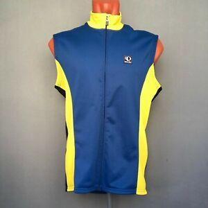 Pearl Izumi Technical Wear Men's Cycling Jersey Blue Yellow Vest Size L