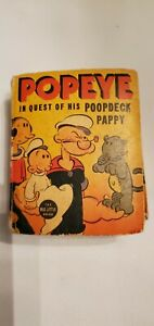 """Vintage 1937 Better Little Book """"Popeye – In Quest of His Poopdeck Pappy"""""""