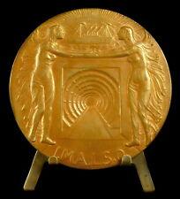 Médaille BELGIAN ANTWERP SCHELDE TUNNELS 1933 Boat  par Van Riel 70mm Medal