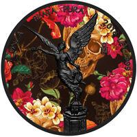 DAY OF THE DEAD-DIA DE LOS MUERTOS 1 oz Libertad Silver Coin Color & Ruthenium