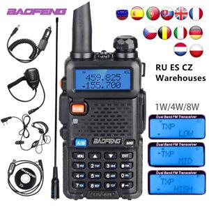 Baofeng 5W UV-5R Walkie Talkie Hunting Ham CB Two Way Radio 10km Talk Range LOT