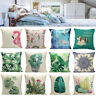Unicorn Horse Plant Linen Cotton Throw Pillow Case Cushion Waist Cover Home Deco