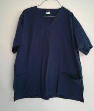 Women's Salus Scrub Top Size Xl Blue