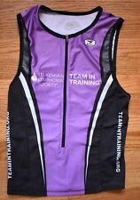 SUGOI Triathlon Sleeveless Cycling Jersey Tri Tank Top Womens M Black Purple