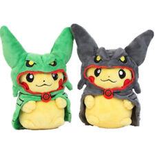Pokemon Black Green Rayquaza Poncho Pikachu Cosplay Stuffed Plush Doll Toy