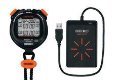 SEIKO SVAJ701 SVAZ015 NFC Data Solar Stopwatch + FC Reader Set Japan Tracking