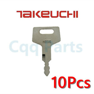 10pcs H806 Fits Case Takeuchi Hitachi New Holland Gehl Keys 17001-00019 180845
