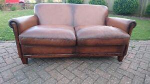 A Laura Ashley Leather Burlington 2 Seater Sofa
