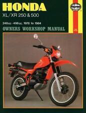 Haynes HONDA XR500 XR500R XR 500 R Owners Service Workshop Manual Handbook Book