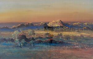 "Original Artwork By Jean Sindelar (Australian 1941-2012) ""Ending Day"""