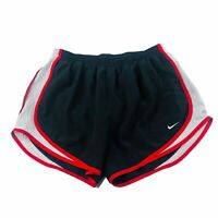 NIKE Dri-Fit Womens Tempo Running Shorts Lined Black Red Size Large