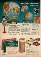 1959 ADVERT Stereo Relief SStarlight Globe Globes Gyro Mount Floor Model Table