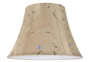 "Aspen Creative Transitional Bell Shape Spider Construction Lamp Shade Gold, 13""W"