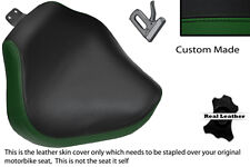 DARK GREEN & BLACK CUSTOM FITS YAMAHA XVS 1100 DRAGSTAR CUSTOM FRONT SEAT COVER