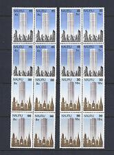 NAURU 1978 BUILDINGS overprints (Scott 161-4) MNH blocks/4