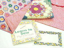LEARN TO SEW MY FIRST QUILT KIT -PINK Moda Fabric Top & Back Label Binding &More