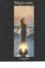 """PUBLICITE  1976  LANCOME parfum """"MAGIE NOIRE"""""""