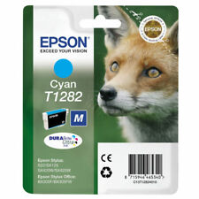 CARTOUCHE EPSON 100% NEUVE T1282 CYAN / T128 renard bleu magenta cyan noir noire