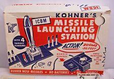 KOHNER'S ICBM MISSILE LAUNCHER STATION BASE PLAYSET BOXED 1950s