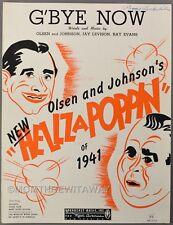 G'Bye Now Olsen Johnson Levison Evans Hellzapoppin Of 1941 Sheet Music