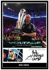 043.  ROB CROSS  DARTS SIGNED REPRODUCTION PRINT SIZE A4