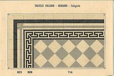 Stampa antica PAVIMENTO A MOSAICO Piastrelle Mattonelle C 714 1910 Antique print