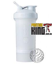 BLENDER BOTTLE PROSTAK 500ML WHITE PROTEIN SHAKER CUP BPA FREE PRO STAK 16 OZ