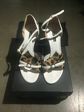 Dolce & Gabbana leopard print sandals UK4