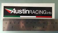 TP AUFKLEBER Decal Sticker Austin Racing - 120mm x 27mm /1063