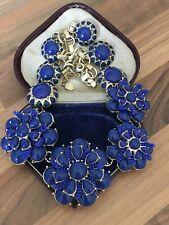 Blue Cluster Flowers Necklace