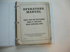Detroit Diesel GM Series 71 Engine OPERATORS MANUAL Service Shop 1952  3 4 6 Cyl