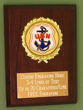 US Navy Award Plaque 4x6 Trophy FREE engraving