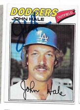 JOHN HALE 1977 TOPPS AUTOGRAPHED SIGNED # 253 DODGERS