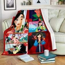 Mulan Quilt Blanket, Fleece Blanket Print In USA