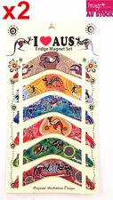 12pcs Australian Souvenir Fridge Magnets Boomerangs Assorted Design 79ex2