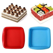 Big Square Silicone Cake Mold Pan Bread Chocolate Pizza Pastry Baking Tray Mould