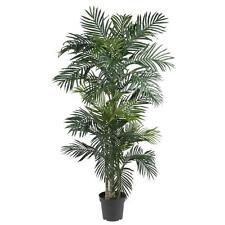 Artificial Silk Palm Tree 6.5 Ft Indoor Garden Ficus Beach Tropical Decor Patio