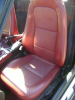 BMW Z3 1996 -2002  GENUINE  LEATHER RED SEAT COVERS