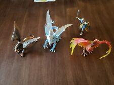 Safari Ltd Mythical Realms Ice Dragon Phoenix Griffin And Knight Lot Of 4 pieces