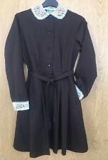 Vintage Soviet Ussr Girls School Dress Brown Wool Retro New Baltija