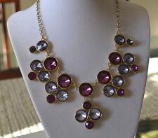 NAPIER Purple & Lavender Crystal Gold tone Statement Necklace