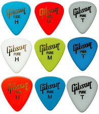 9 PÚAS GIBSON puas guitarra MIX color - 9 Guitar picks Bajo, Pure H M T