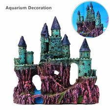 Big Resin Aquarium Decoration Ancient Europe Castle Rock Cave Fish Tank  A