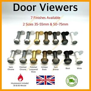 Door Viewer Security Wide Angle 200 Degree Vision Spy Peep Hole Internal Flap