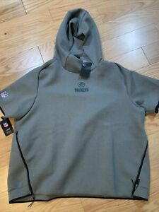 Nike NFL Green Bay Packers Therma Short Sleeve Hooded Jacket 3XL AR6089-021 Rare