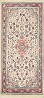 Floral Ivory Ardakan Traditional Oriental Area Rug Wool Hand-knotted 2x4 Carpet