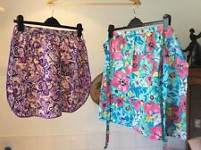 vintage pair of 1960's cotton apron/pinnies floral pattern