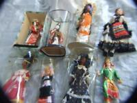 Vintage 10 pcs. International Dolls Japan, New Caledonia,Kewpie w original box