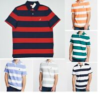 NWT Men's Nautica Stripe Classic Fit Short Sleeve Polo Shirt