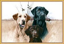 "Great Hunting Dogs Rug 37""x52"" Geese Carpet Fishing Labrador Retriever Ducks"